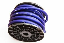 0 GAUGE 5 METRES CCA POWER CABLE THICKEST AVAILABLE TRUE 65MM2 WIRE BLUE