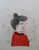 Max Peiffer Watenphul (1896 - 1976 ) - Dame im Profil - Lithographie - Signiert