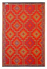 Fab Hab - Lhasa - Orange & Violet Indoor Outdoor Rug/Mat (150 cm x 240 cm)
