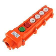 Rainproof Crane Hoist Pushbutton Switch Pendant Control Station 4 Ways, New, Fre