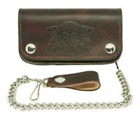 NEW Black Flys BIKER CHAIN WALLET GENUINE LEATHER BROWN LIMITED MADE IN USA