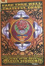 Grateful Dead Fare Thee Well 50Th Santa Clara Poster Everett 3D Levi'S 6/27 28