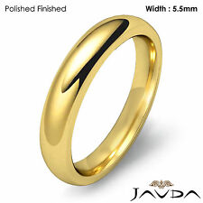 Wedding Band 14k Gold Yellow Mens Dome Comfort Fit Plain Ring 5.5mm 7.1g 12-12.7