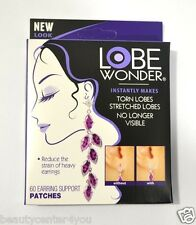 NEW!! (1) Boxes Lobe Wonder Support Patches for Earrings 60 Patches