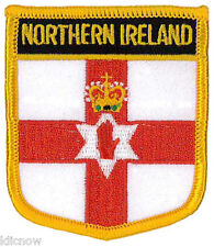 "Northern Ireland (Shield) Embroidered Patch 6CM X 7CM (2 1/2"" X 2 3/4"")"