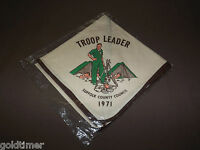 VINTAGE BSA BOY SCOUTS OF AMERICA  NECKERCHIEF 1971 TROOP LEADER SUFFOLK COUNTY