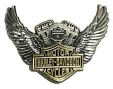 Harley-Davidson 1.5 in. Bar & Shield Winged Motor Pin, Antique Finish 8009281