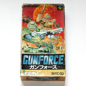 Super Famicom Gunforce Battle Fire Engulfed Terror Island Irem Nintendo SFC SNES