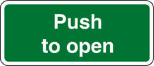 6 X PUSH TO OPEN STICKERS SIGNS