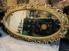 Vintage Ornate Oval Mirror.