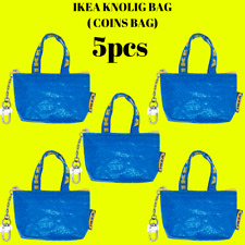 5 PCS IKEA KNOLIG XS FRAKTA BAG COINS BAG ZIPPER KEY PURSE STORAGE REUSABLE