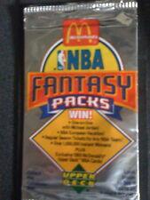 McDONALD'S UPPER DECK NBA FANTASY BASKETBALL cards 1992-1993 10 packs SEALED