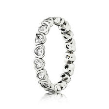 Authentic Pandora Silver 925 Forever More Stackable Ring #190897CZ Size 5 / 50