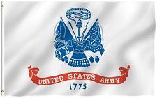 Us Army White Flag United States Military Banner Premium Poly 3x5 Flag
