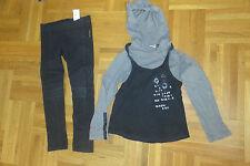 """Lot """"IKKS"""" 6 ans : PANTALON noir  + T-SHIRT gris + TUNIQUE noire bretelles"""