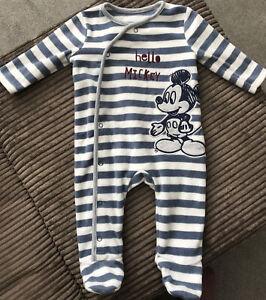 Disney~Mickey Mouse Fleece Sleepsuit ~Babygrow 3~6 Months