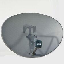 Zone 2 80cm Satellite Dish & Octo LNB LMB For Sky Plus HD Freesat Hotbird Polsat