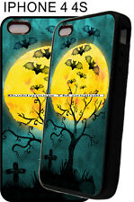 New Halloween Watercolor Look Bats Phone Case Cover Fits iPhone 4s 5 5s 7 8 x xs