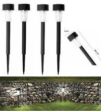 Pack 4 lampade ad energia solare led 30 cm segnapasso esterno giardino