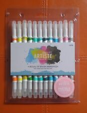 Docrafts Artiste Dual Tip Brush Markers (12pcs) Brush / Fine Point - Pastel