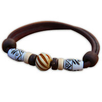 Braunes Lederarmband Herren Armband Damenarmband Surfschmuck Surferarmband Kite