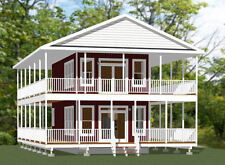 16x30 House -- 1 Bedroom 1.5 Bath -- PDF Floor Plan -- 873 sq ft -- Model 10C