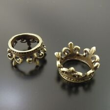 33729 Antique Bronze Alloy King Crown Pendants Charms Crafts Findings 20pcs