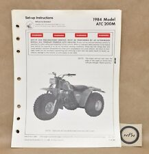 Vtg 1984 Honda ATC200 M Set Up Assembly Pre Delivery Service Instruction Manual