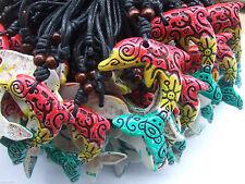 12pcs Rasta Dolphin Carving Frog Turtle Symbol Pendant Charm Necklace