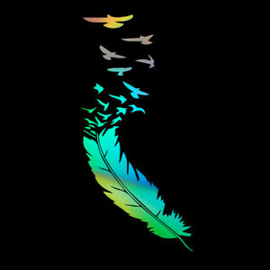 Feather Birds Car Sticker Vinyl Truck Laptop Window Bumper Motorcycle Van Decal