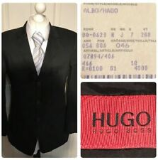 Hugo Boss Albo Hago Size 46 Small 36R Cotton Blend Jacket Black