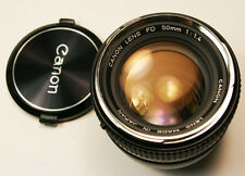Canon FD 50mm f1.4 manual focus chrome nose  Lens MINT