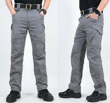 Men Military Tactical Cargo Pants Army Battle Combat Casual Long Hiking Trousers