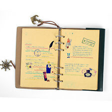 Vintage Classic Retro Leather Journal Travel Notepad Notebook Blank Diary Top