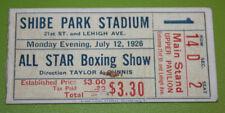 All Star Boxing Show Shibe Park Stadium Ticket Stub   July 12 1926   Benny Bass