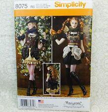 Simplicity 8075 Steampunk Elizabethan Collar Bustle Costume Sewing Pattern 14-20