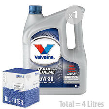 Engine Oil and Filter Service Kit 4 LITRES Valvoline SynPowr MST C3 5W-30 4L
