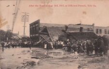 Postcard After Flood Aug 3 1915 13th + French Erie Pa