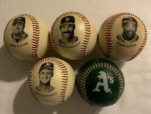 Lot of 5 Oakland A's Baseball's Chevron 1993 Team Stars