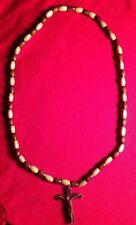 New Necklace For Men & Women Brown Cross Pendant Christian Religious Wooden