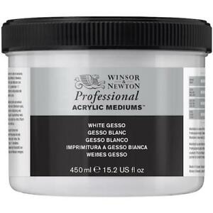 WINSOR & NEWTON Professional Acrylic Gesso - White - 225ml Tub