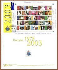 2003 Vaticano GP II busta viaggiata Immagini anni pontificato foglietto