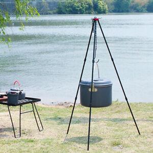 SUNDICK Aluminum Alloy Hanging Cooking Pot Outdoor Camping Cookware Tripod