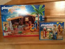 Playmobil Nativity Stable with Manger (5588) and Three Wise Kings (5589)