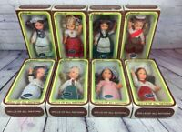 "Vintage Vinyl Dolls of All Nations Lot of 8 in Original Boxes - 10"" / Hong Kong"