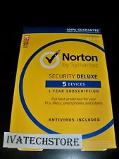 Norton Security Deluxe 3.0 5 Devices 1-Year Subscription Antivirus 21368229