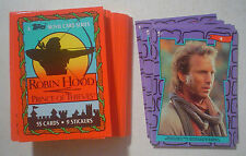 Robin Hood Prince of Thieves ~ Complete 1991 Base Set & Stickers ~ Topps