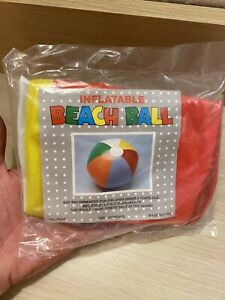 "Vintage Inflatable Beach Ball No. IN103 20"" Colorful NOS"