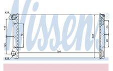 NISSENS Radiador, refrigeración del motor FIAT PUNTO IDEA LANCIA MUSA 61899