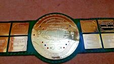 BIG GREEN World Wide Wrestling Heavyweight Champion Belt.Adult size